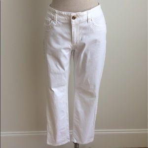 WHBM White Slim Crop Jeans